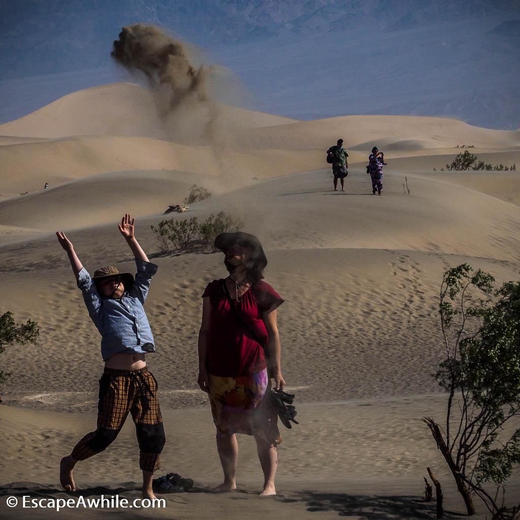 The joy of having a decent sized sandpit. Mesquite Flat sand dunes, Death Valley NP