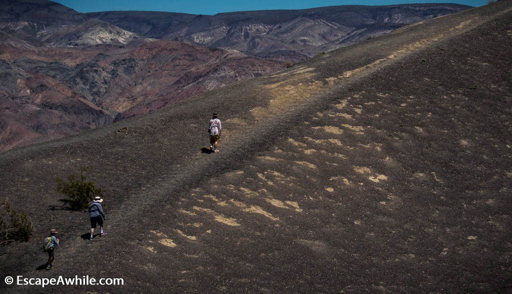 A walk around the crater rim, Ubehebe Crater, Death Valley NP.