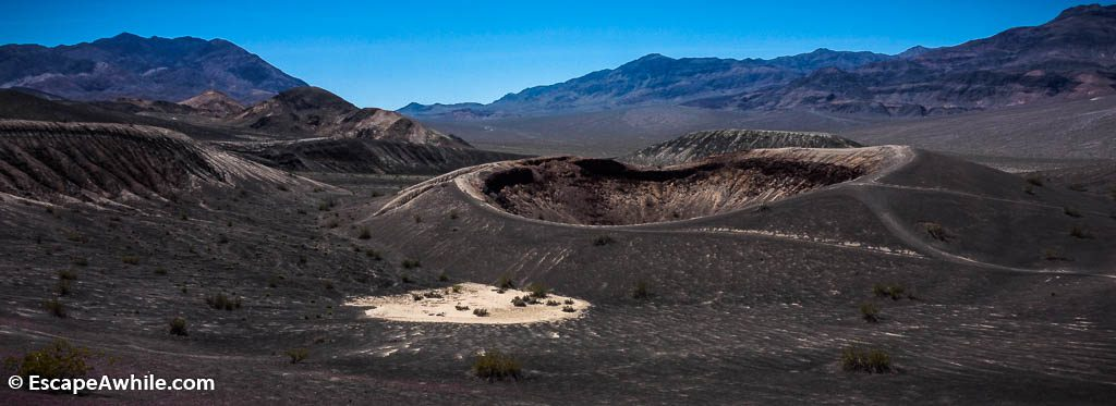 Small Hebe crater, next to its larger sibling Ubehebe Crater, Death Valley NP.