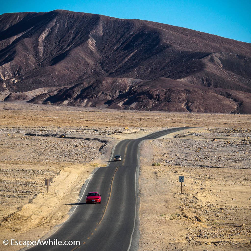 Typical drive through Death Valley floor. The complete lack of vegetation is quite amazing.