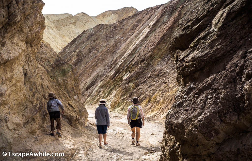 Golden Canyon walk, Death Valley NP.