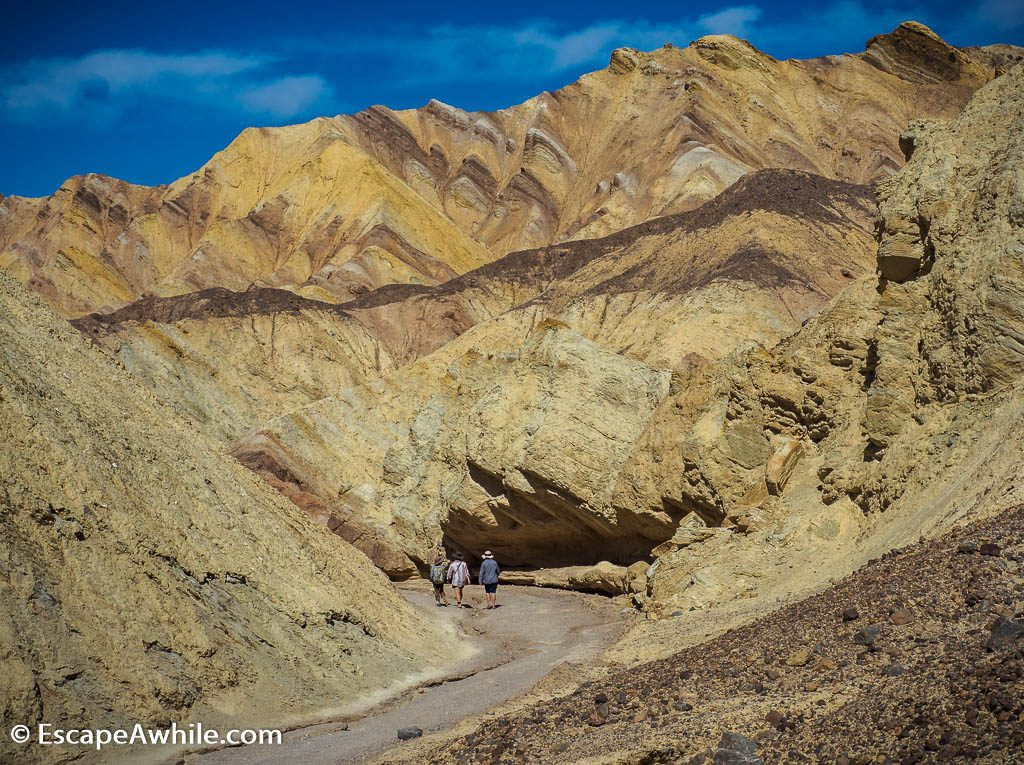 Many colours of the Golden Canyon, Death Valley NP