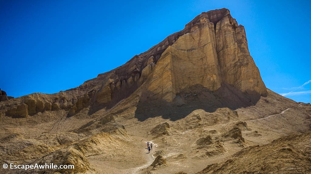 Manly Beacon, a prominent feature on the link track from Golden Canyon to Gowler Gulch. Death Valley NP.