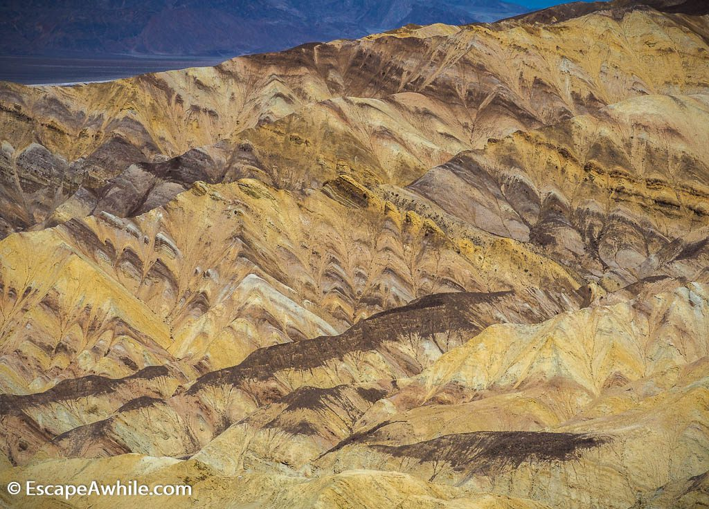Colourful contryside of the Golden Canyon, Death Valley NP