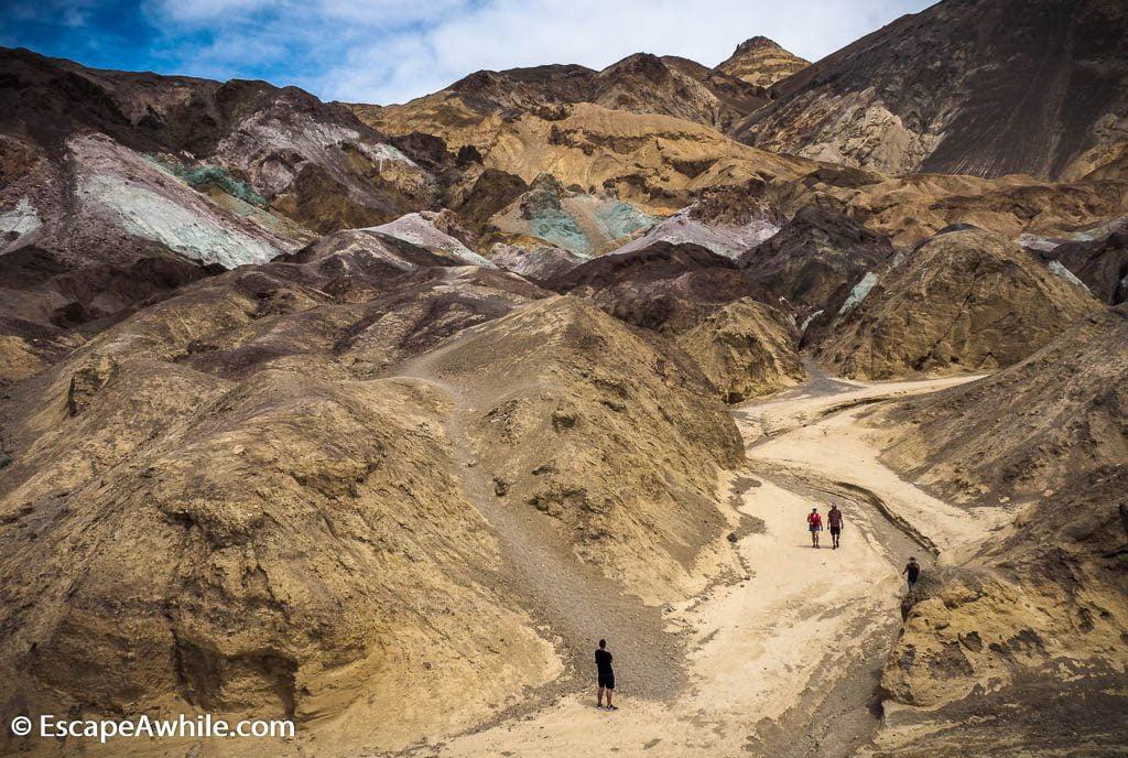 Artist's Palette - multi-coloured rocks. Death Valley NP.