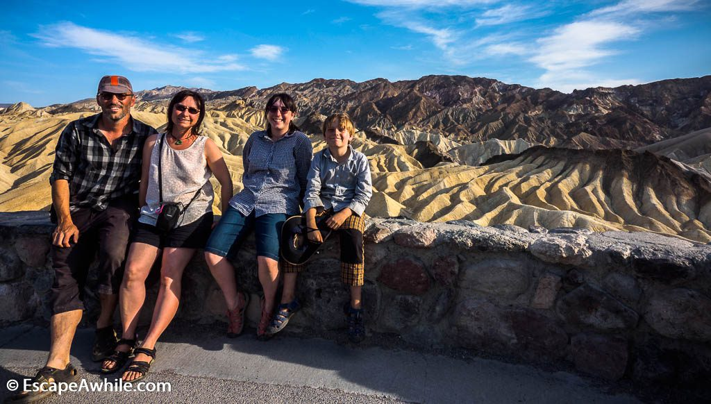 Evening at the Zabriskie point - proof that we have been there! Death Valley NP.