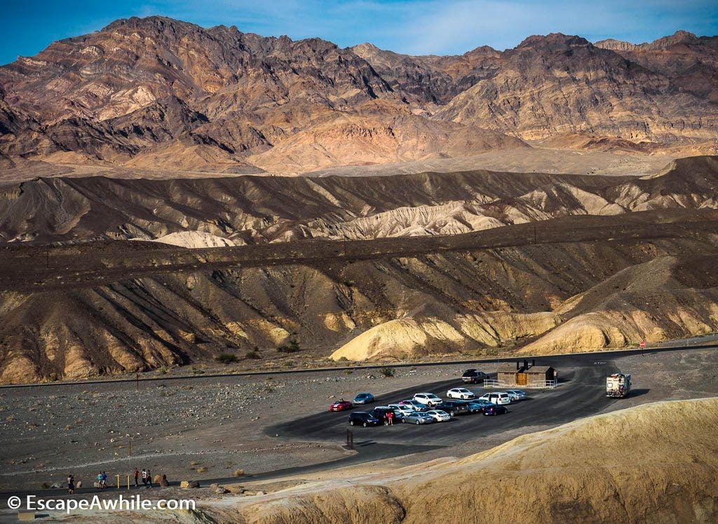 Zabriskie point parking, Death Valley NP.