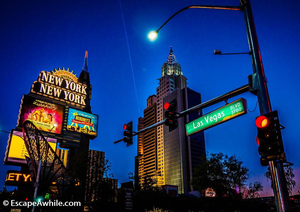 "Las Vegas Boulevard, or ""The Strip"", looks it's best at night."