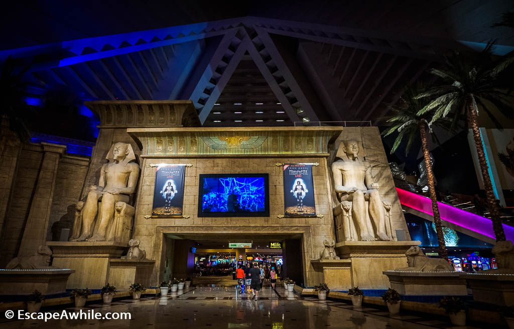 Egyptian theme continues inside the pyramid, Luxor Casino, Las Vegas