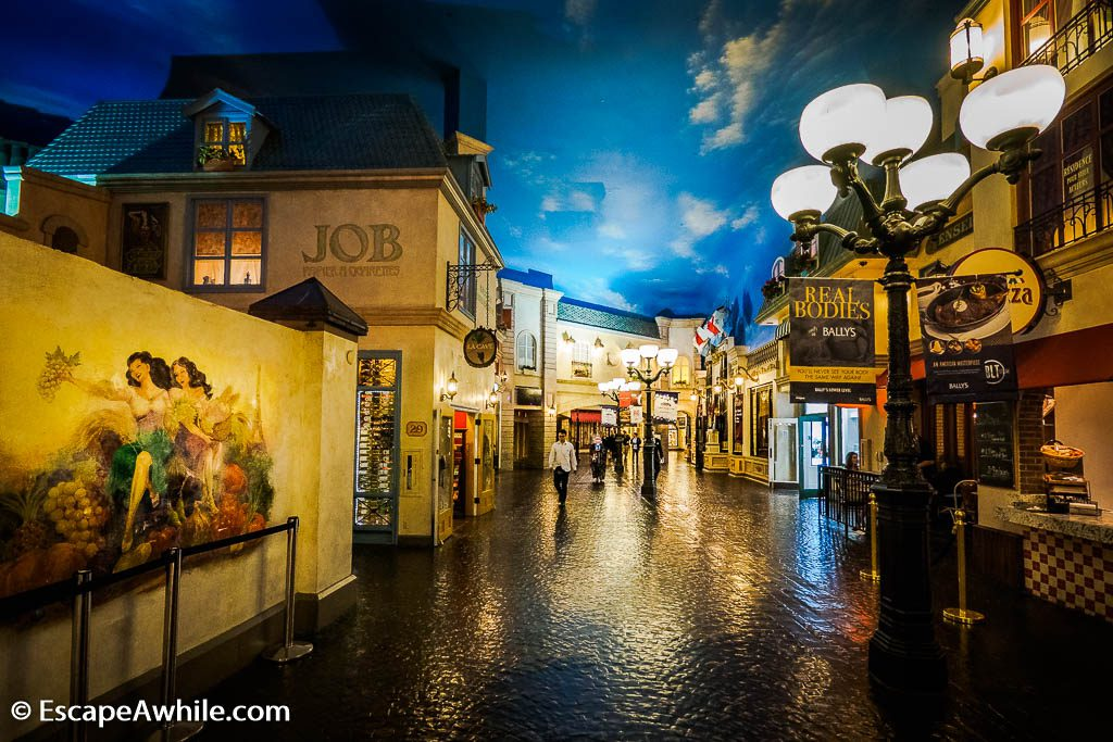 European themed shopping mall at Paris Las Vegas Hotel
