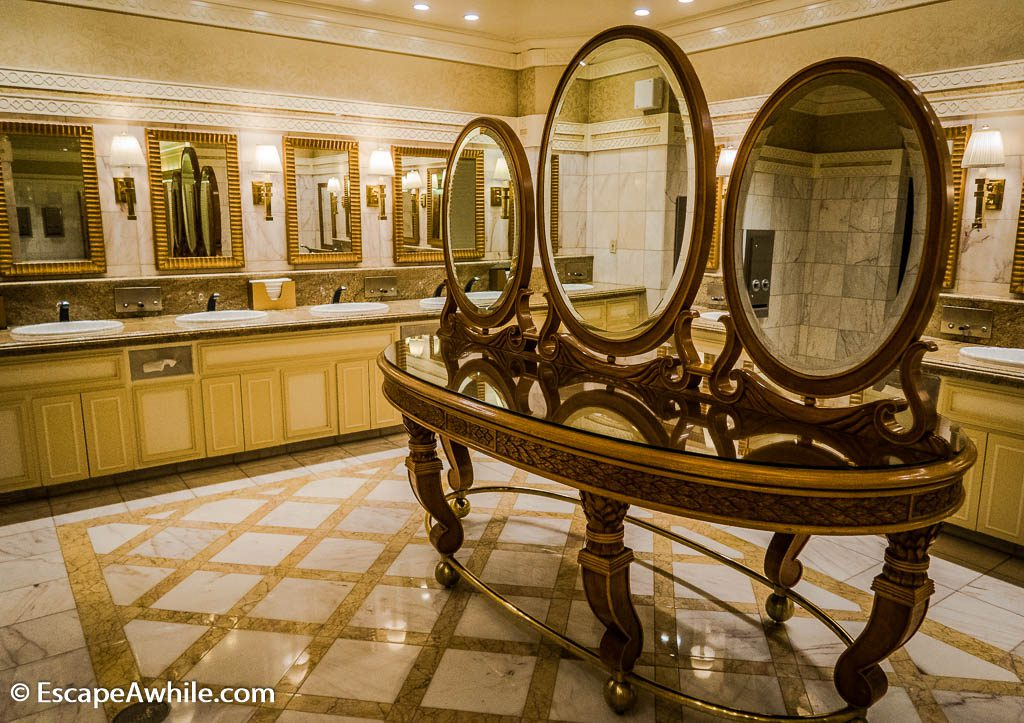 Luxurious restrooms at Mirage Casino