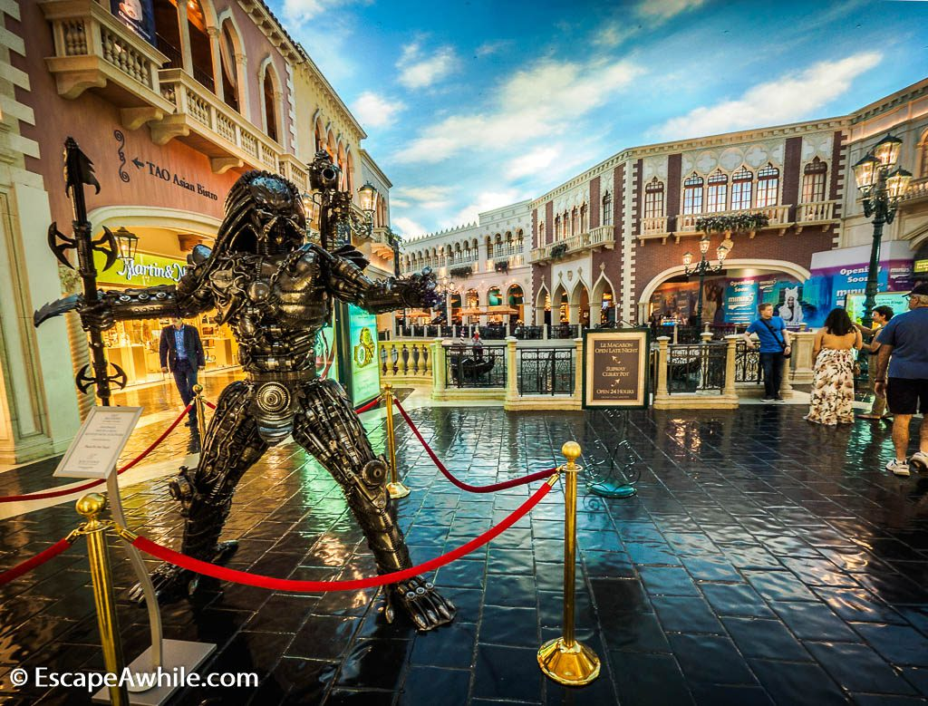 Venice streets themed Grand Canal shopping mall in Venetian Hotel, Las Vegas
