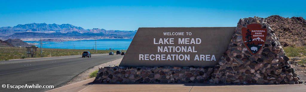 Entering Lake Mead Recreational Area