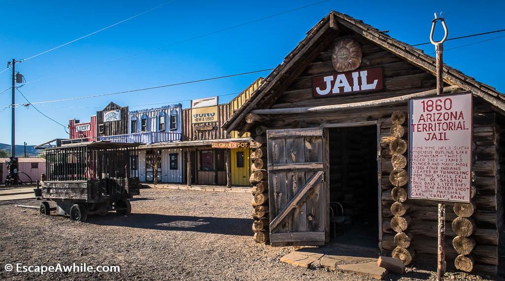 Stylish Seligman depot, Historic Route 66, Arizona, USA