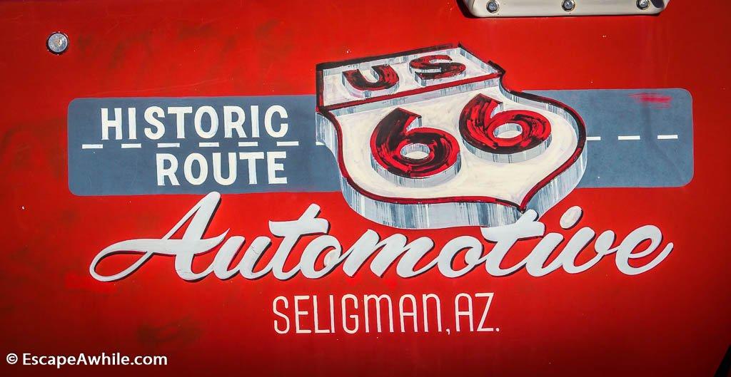 Historic Route 66 in Seligman, Arizona, USA