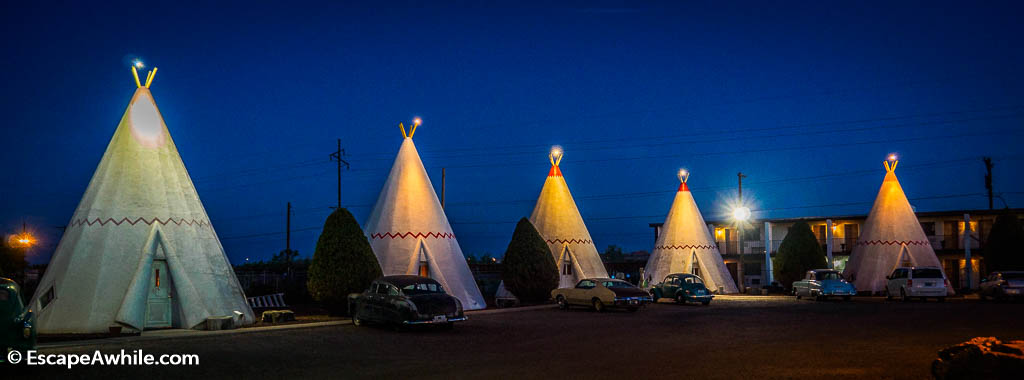 Wigwam motel in Holbrook on Route 66, Arizona, USA