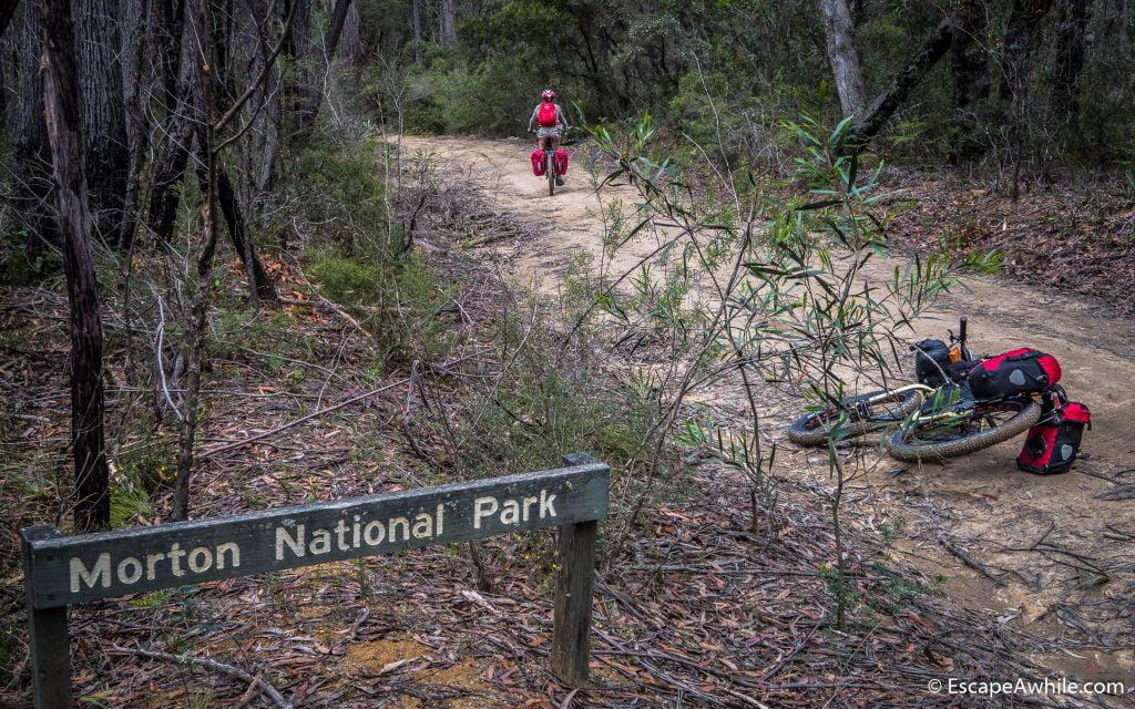 Entering the Morton National Park on Meryla fire trail
