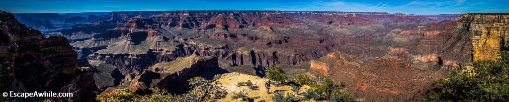 180 degree panoramic views from the Powell Point, Grand Canyon South Rim, Arizona, USA