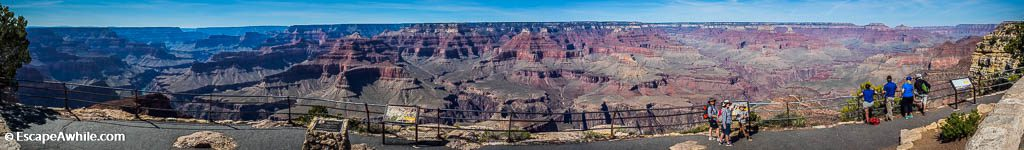 Next viewpoint,Hopi Point, offers almost 270 degree panorama. Grand Canyon South Rim, Arizona, USA