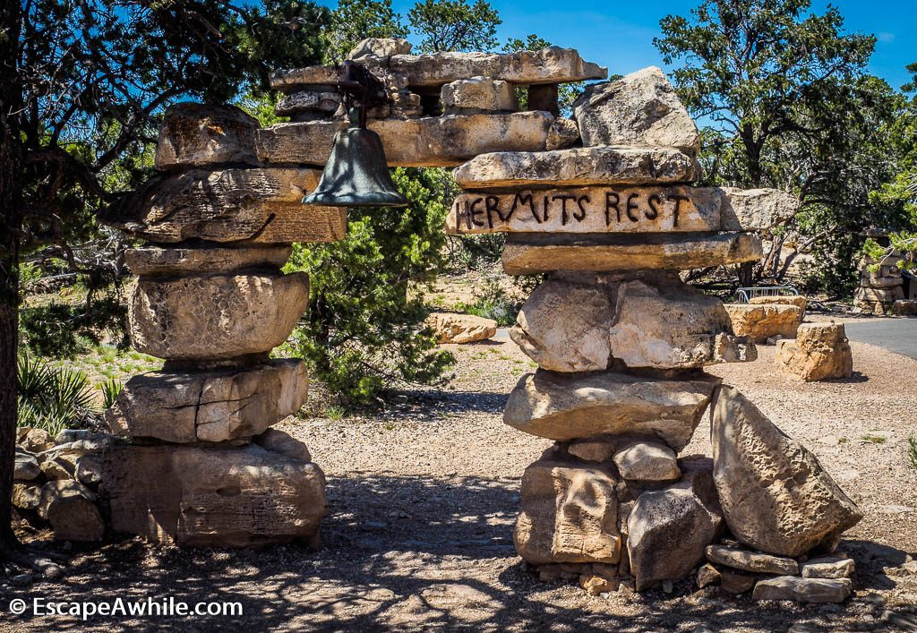Hermits Rest, the very last stop on the shuttle route along the Grand Canyon South Rim, Arizona, USA