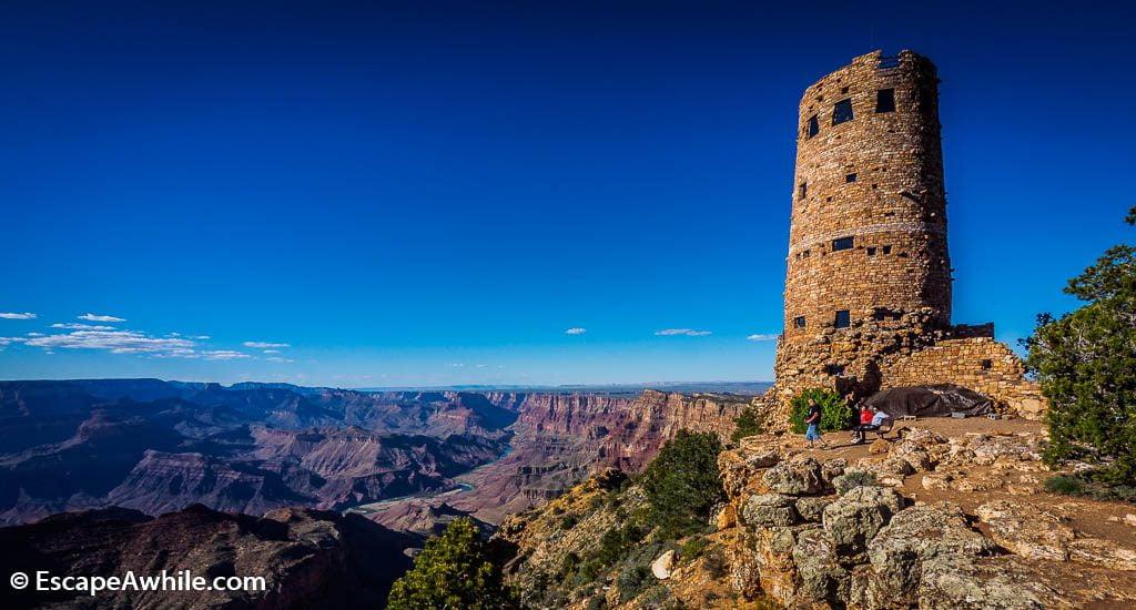Desert View watch tower, Grand Canyon South Rim, Arizona, USA