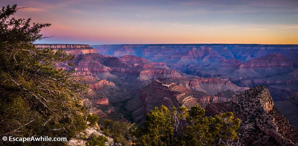 Early morning at Grandview Point, Grand Canyon South Rim, Arizona, USA