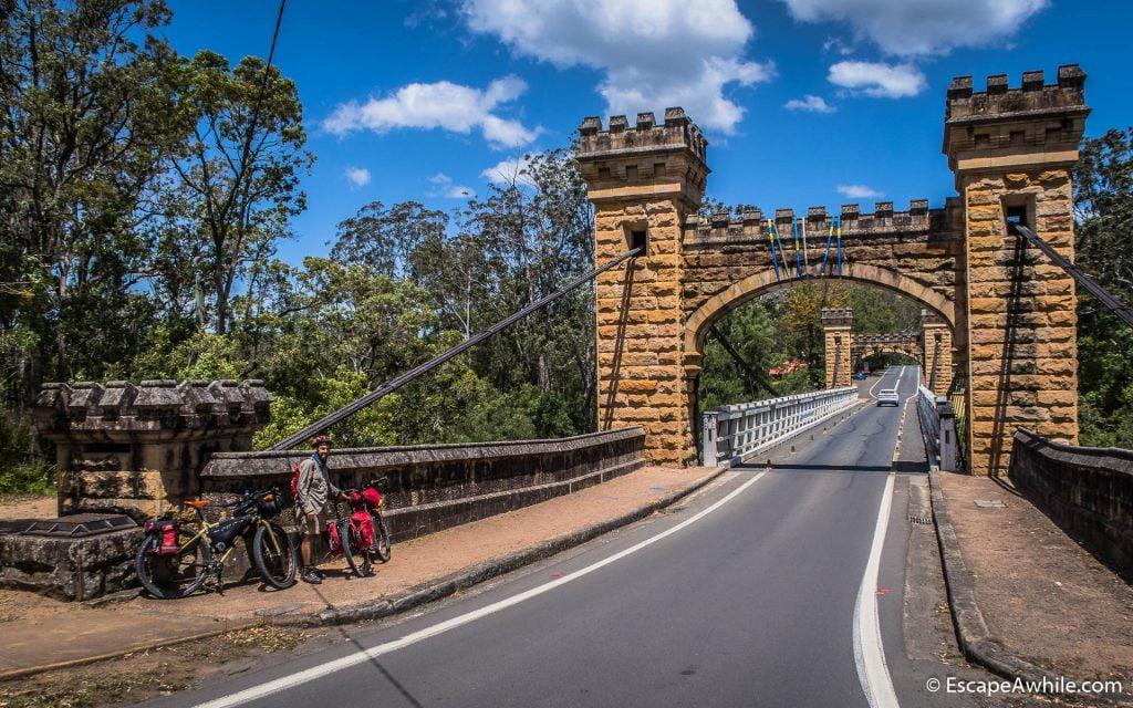 Famous Hampden Bridge over Kangaroo River