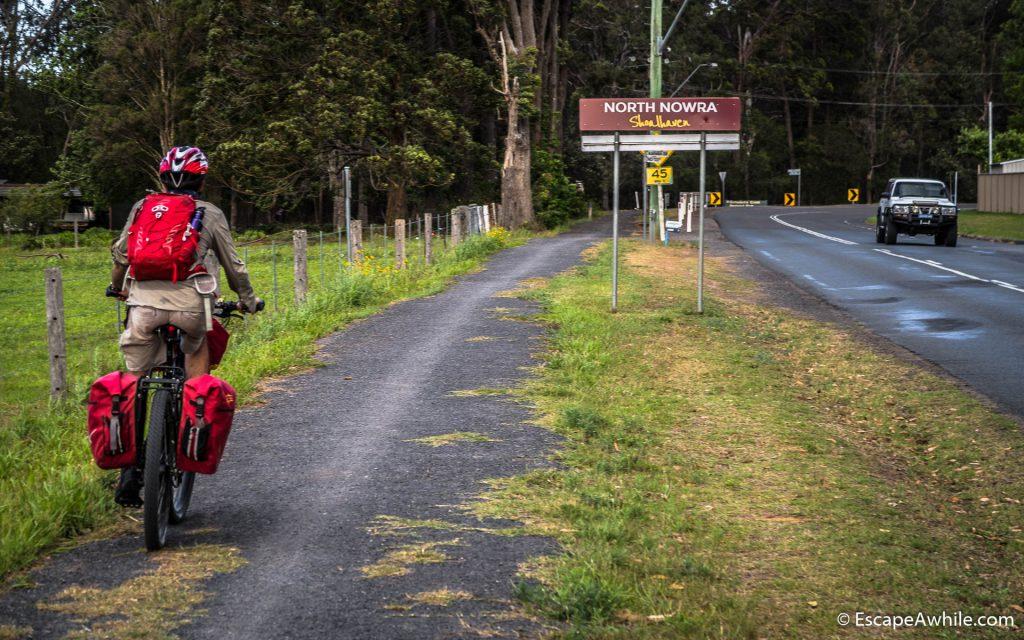 Entering Nowra on a nice bike path