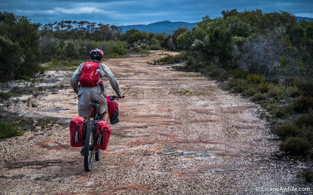 An easy and flat ride across the top plateau, Yarramunmun fire trail.