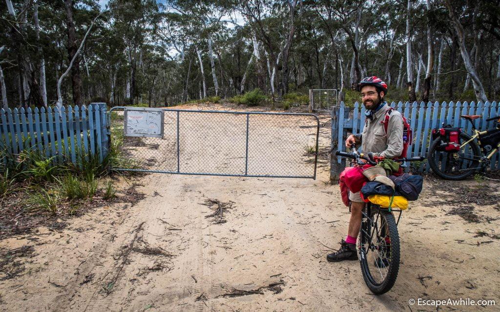 Leaving public land, entering private properties near Nerriga