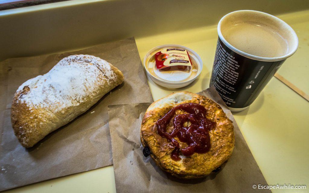 Well earned treats in the Braidwood bakery
