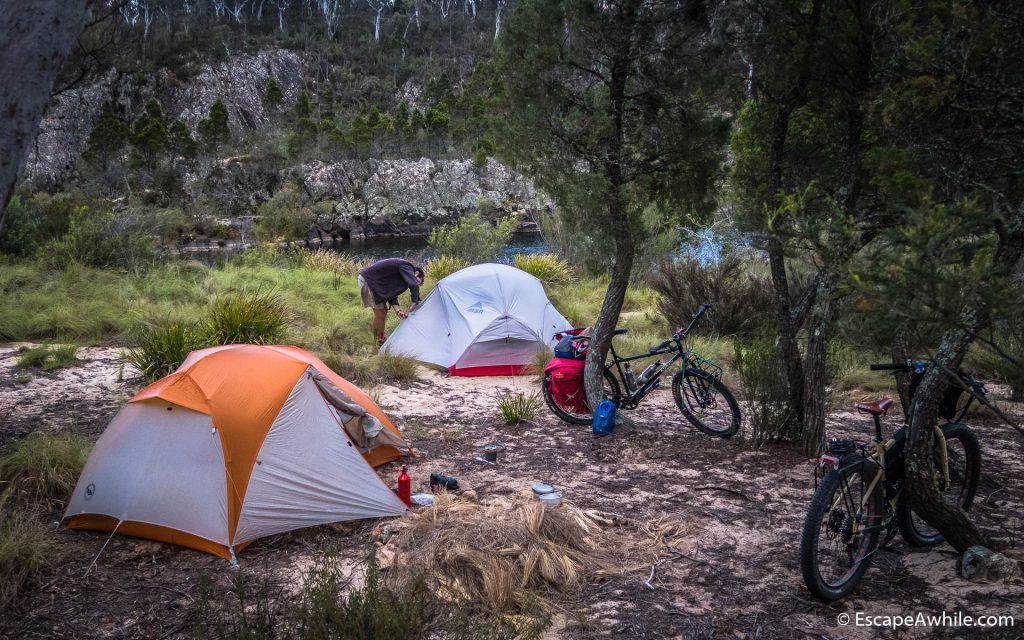 Camping in the Bombay Reserve