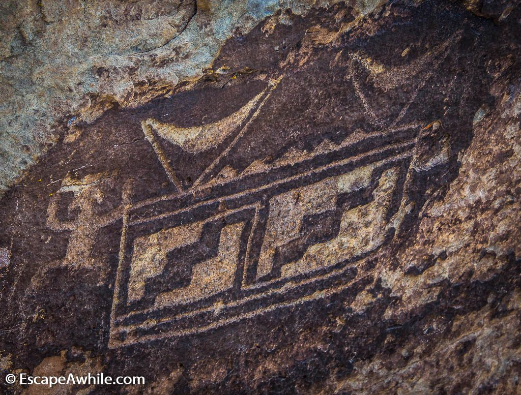 Petroglyphs - rock carvings - near the ancient Puerco Pueblo site.