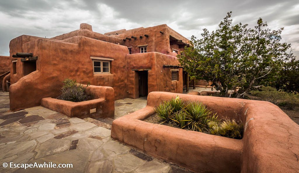 Courtyard of the Painted Desert Inn.