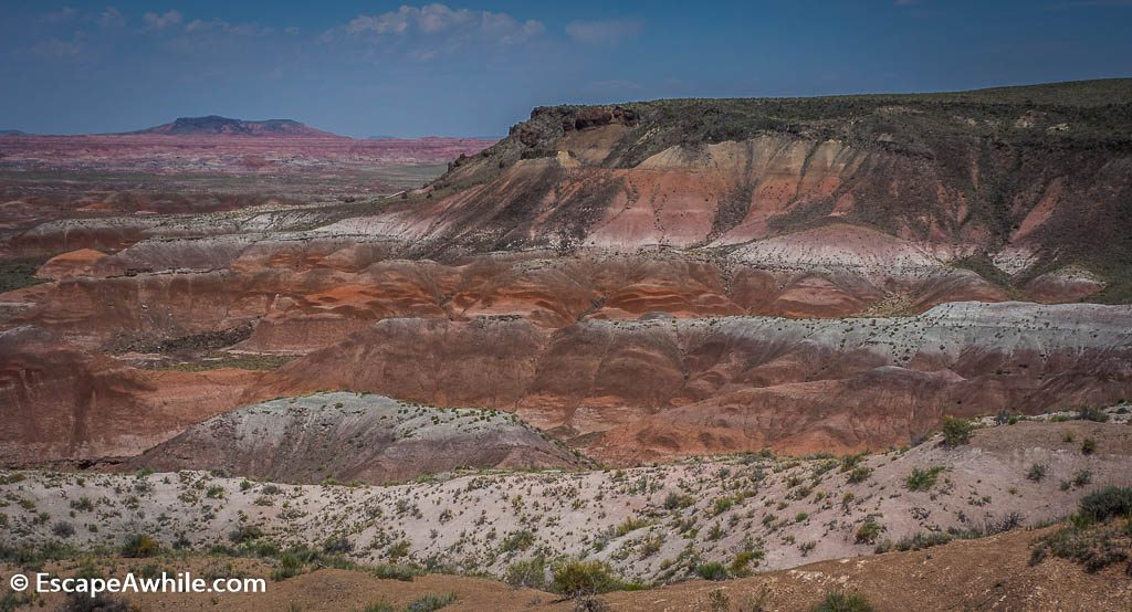 Colours of the Painted Desert, as seen from the lookout near the Inn.